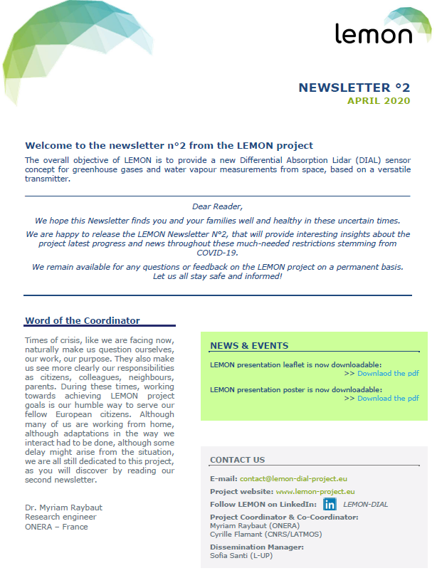 LEMON Newsletter N°2